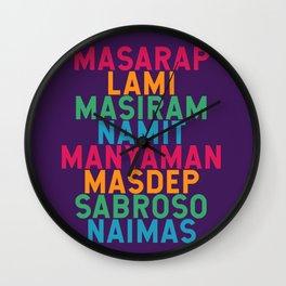 Filipino Kitchen Loteria - Masarap Wall Clock