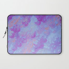 PURPLE PLUMES - Soft Pastel Wispy Lavender Clouds Lilac Plum Periwinkle Abstract Acrylic Painting  Laptop Sleeve
