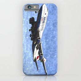 One World Boeing 747 Art iPhone Case