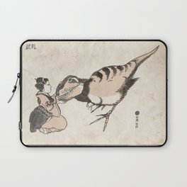 Geisha & Baby T-Rex Laptop Sleeve