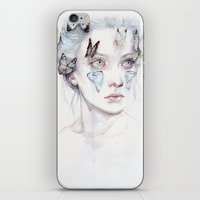 agnes iPhone & iPod Skins featuring love and sacrifice by agnes-cecile