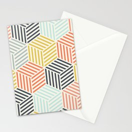 Colorful Geometric Pattern Stationery Cards