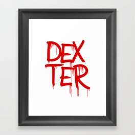 word: Dexter Framed Art Print