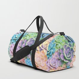 Rainbow Succulents Duffle Bag