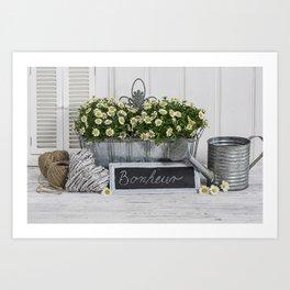 Romantic Flower Still Life Art Print