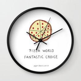 Pizza World Wall Clock