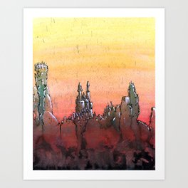 Mountain Stronghold Art Print