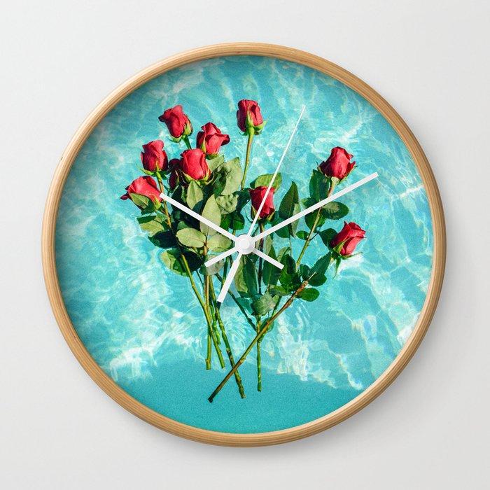 summer romance #society6 #decor #buyart Wall Clock