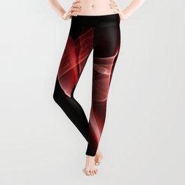 Smoke creations - red swirls Leggings