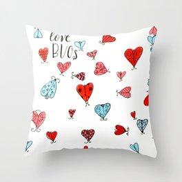 Love Bugs Throw Pillow