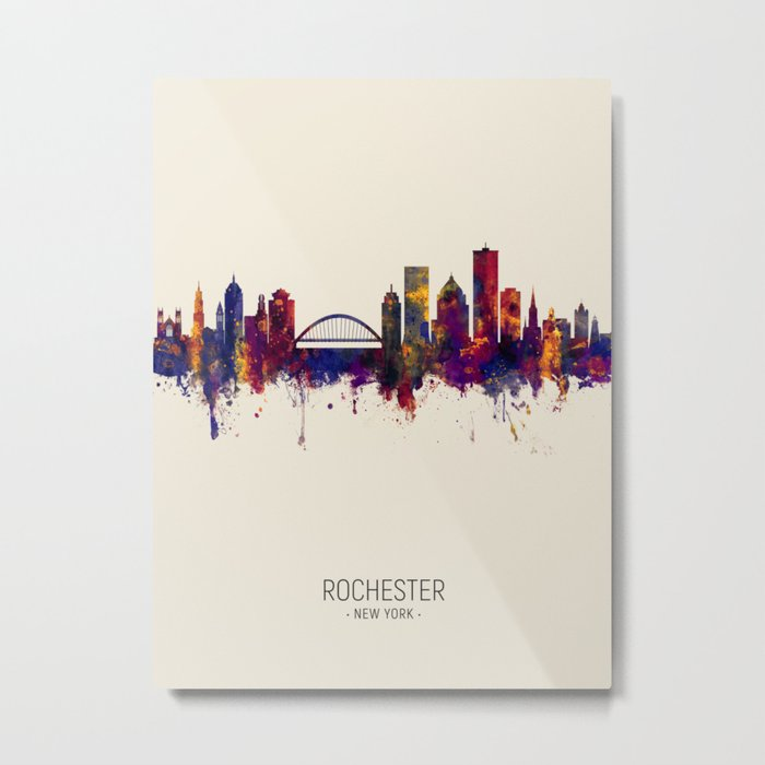 Rochester New York Skyline Metal Print