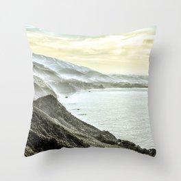 Somewhere over Big Sur. Throw Pillow