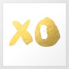 XO gold Art Print