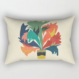 Potted staghorn fern plant Rectangular Pillow