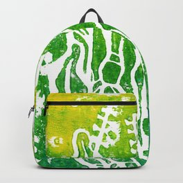 Summer Herbs, abstract floral Backpack