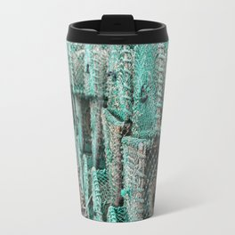 Lobster Traps On The Dock Travel Mug