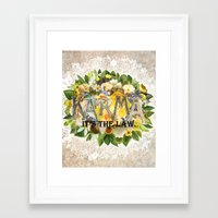 karma Framed Art Prints featuring Karma by Jenndalyn