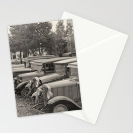 Antique Automobiles by a Dance Hall Stationery Cards