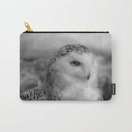 Snowy Owl - B & W Carry-All Pouch