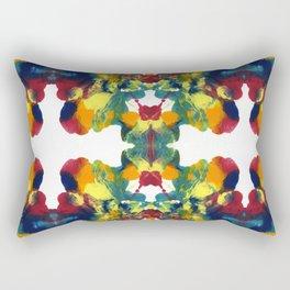 Multi Color Blot Rectangular Pillow