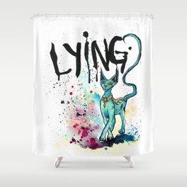 Lying Cat Shower Curtain