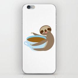 sloth & coffee 2 iPhone Skin