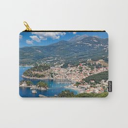 Aerial shot of the beautiful bay of Parga, Greece Carry-All Pouch