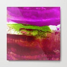 Encaustic Abstract No.27J by Kathy Morton Stanion Metal Print
