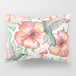 Hummingbirds + Hibiscus Pillow Sham