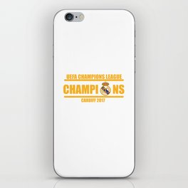 Real Madrid Champions League 2017 Cardiff Wales iPhone Skin