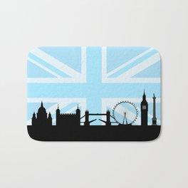 London Sites Skyline and Blue Union Jack/Flag Bath Mat