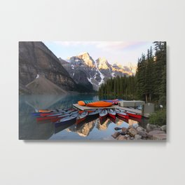 Reflections on the lake Metal Print