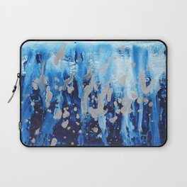 Blue waterfall encaustic painting Laptop Sleeve