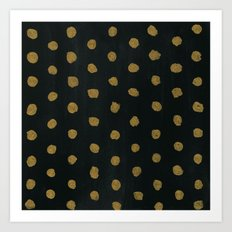 GOLD DOTS Art Print