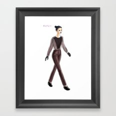 Caitlin Power FW13 Framed Art Print