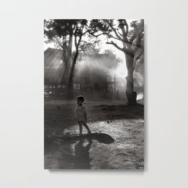 "Little Boy in Central Highland of Vietnam - ""VACANCY"" zine Metal Print"