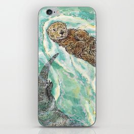 Two Otters iPhone Skin
