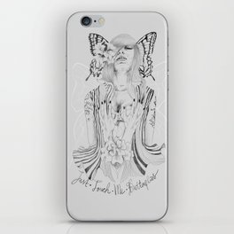 Touch Me Butterfly iPhone Skin