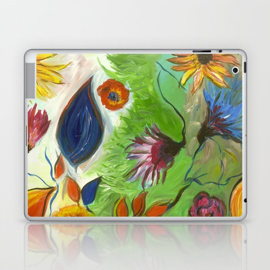 Flower Swirls Laptop & iPad Skin
