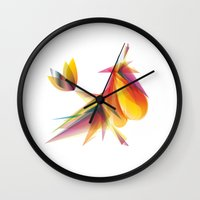 my little pony Wall Clocks featuring My little pony by Mari Biro