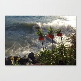 Lakeside Flowers III Canvas Print