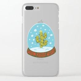 Cactus Snow Globe Clear iPhone Case