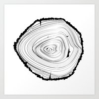 tree rings Art Prints featuring Tree Rings by brittcorry