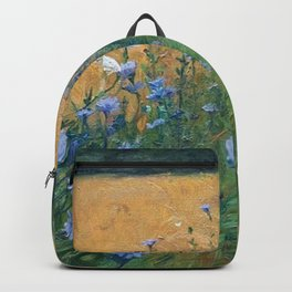 Early Morning, Tuscany, Italy floral landscape painting by Agnes Slott-Møller Backpack