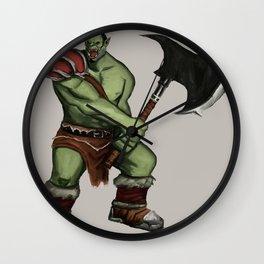 Green Warrior Wall Clock