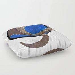 Creature of Water (porthole edit) Floor Pillow