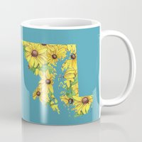 maryland Mugs featuring Maryland in Flowers by Ursula Rodgers