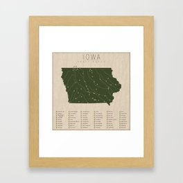 Iowa Parks Framed Art Print