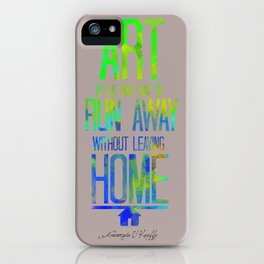 Georgia O' Keeffe Multicolor Typography Print iPhone Case