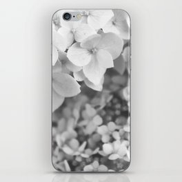 Flowers Blooming (Black and White) iPhone Skin